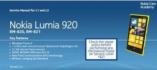 Подробная инструкция разборки Nokia Lumia 920