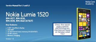 Подробная инструкция разборки Nokia Lumia 1520